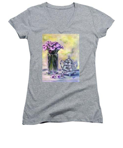 Morning Splendor Women's V-Neck T-Shirt