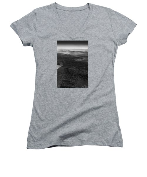 Mountains And Desert Women's V-Neck (Athletic Fit)