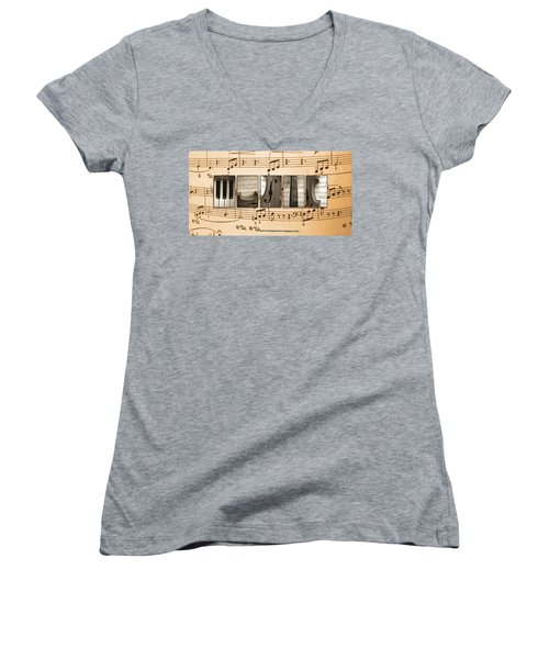Music Women's V-Neck (Athletic Fit)