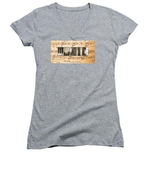 Music Women's V-Neck T-Shirt