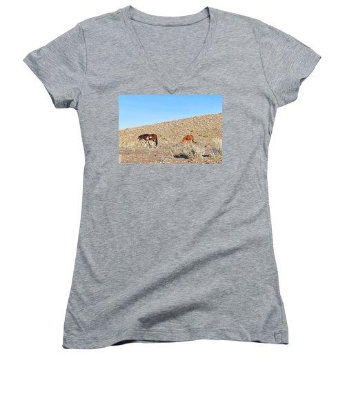 Mustangs Women's V-Neck