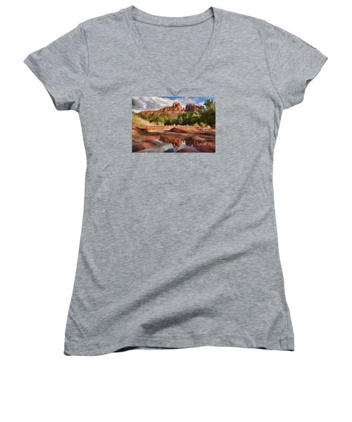 Nature's Cathedral Women's V-Neck