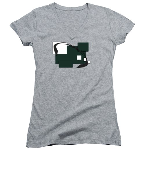 New York Jets Abstract Shirt Women's V-Neck T-Shirt