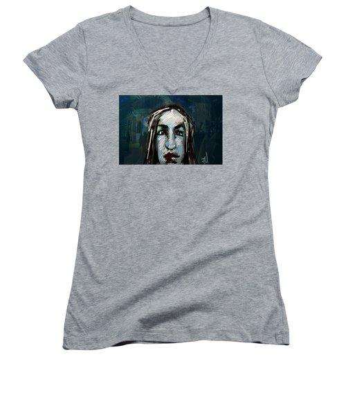 Night Life Women's V-Neck T-Shirt (Junior Cut) by Jim Vance