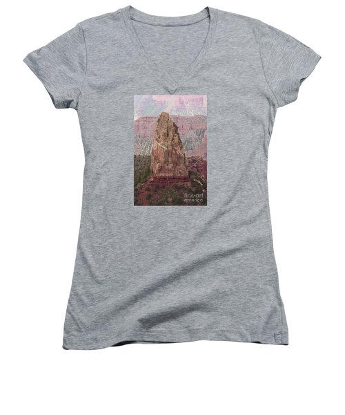 North Rim Rock  Women's V-Neck (Athletic Fit)
