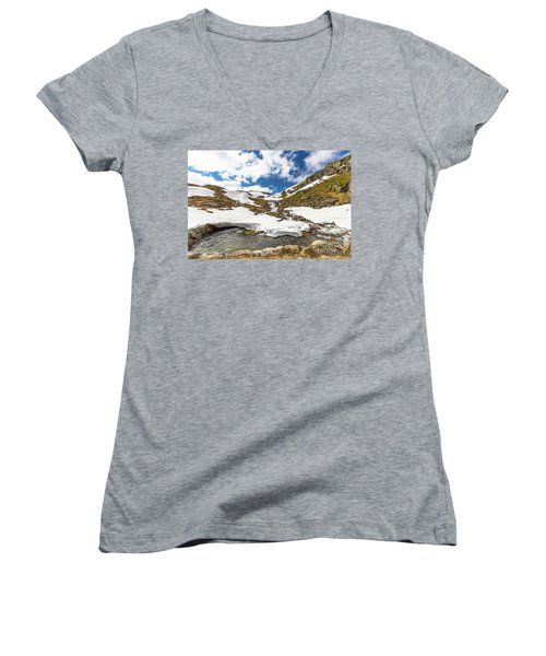 Norway Mountain Landscape Women's V-Neck