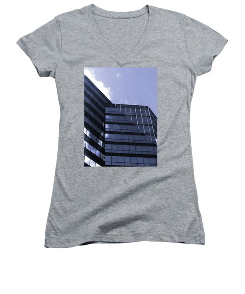 Women's V-Neck T-Shirt (Junior Cut) featuring the photograph Obscurity by Jamie Lynn