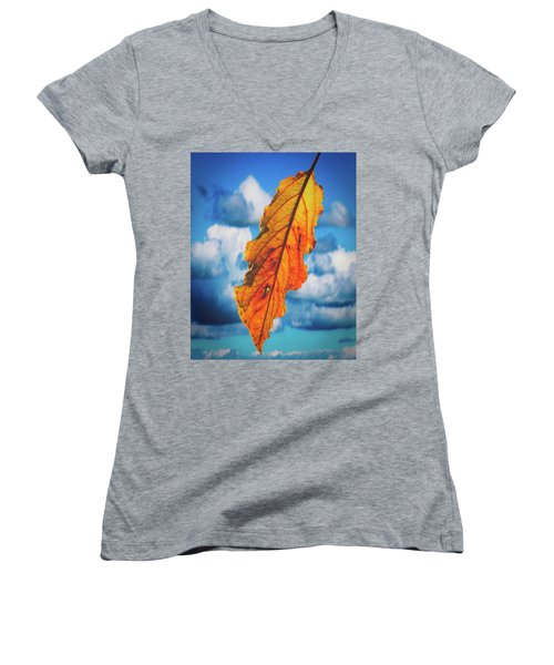 October Leaf B Fine Art Women's V-Neck (Athletic Fit)