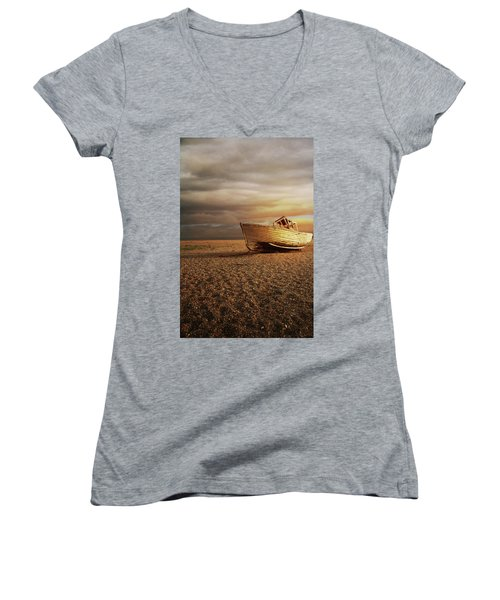 Old Wooden Boat Women's V-Neck T-Shirt
