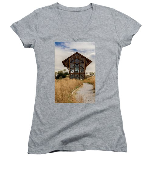 Omaha Holy Family Shrine 2 Women's V-Neck