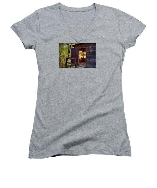 Open Door Women's V-Neck T-Shirt (Junior Cut) by Ester  Rogers