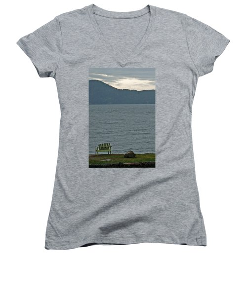 Orcas Island View Women's V-Neck (Athletic Fit)