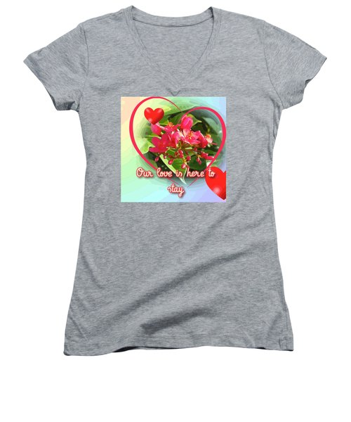 Our Love Is Here To Stay Women's V-Neck (Athletic Fit)