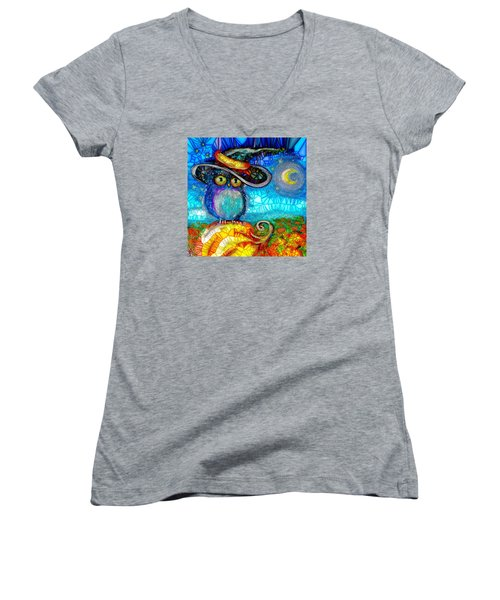 Owl Scare You Women's V-Neck (Athletic Fit)