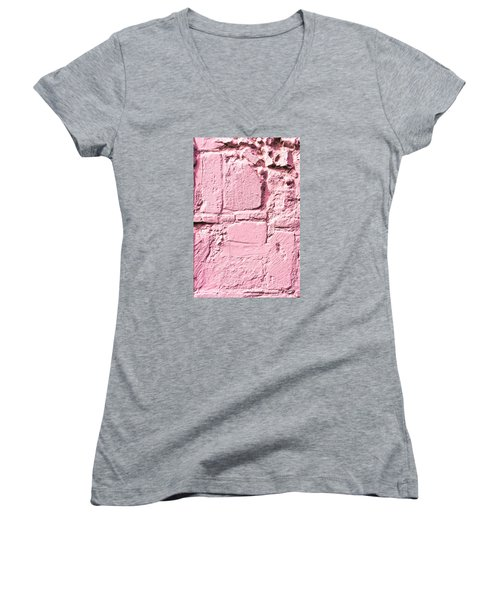 Pink Wall Women's V-Neck (Athletic Fit)