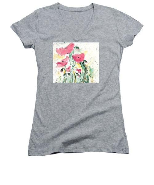 Poppies 10 Women's V-Neck (Athletic Fit)