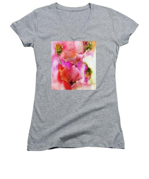 Poppy Garden Women's V-Neck (Athletic Fit)