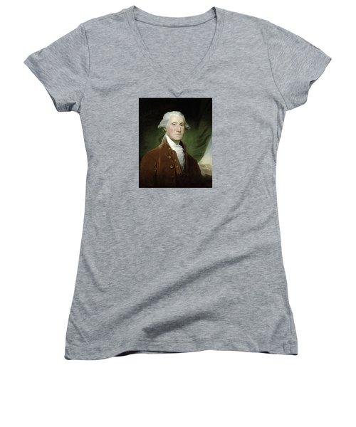 President George Washington  Women's V-Neck (Athletic Fit)