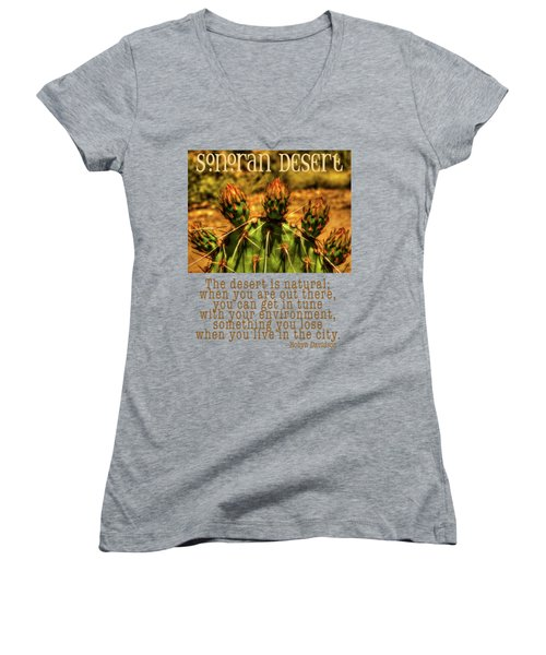 Prickly Pear Cactus Women's V-Neck