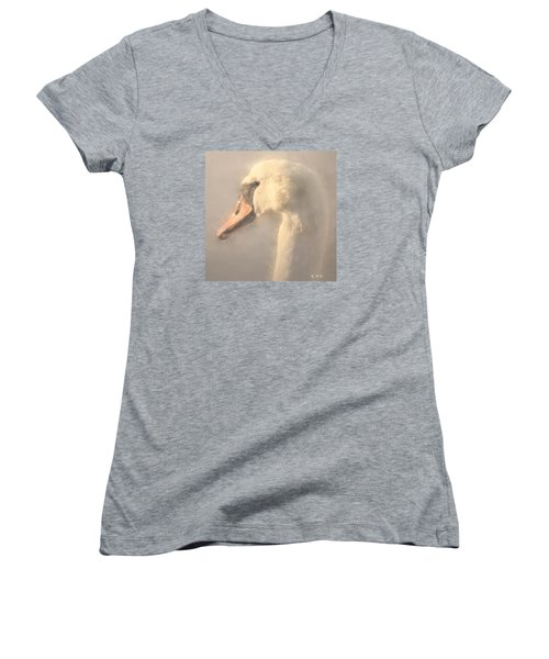 Women's V-Neck T-Shirt (Junior Cut) featuring the photograph Purity by Rose-Maries Pictures
