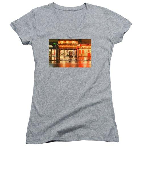 Rain Town Women's V-Neck T-Shirt