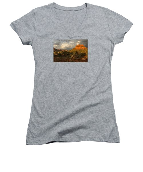 Red Rock Majesty Women's V-Neck T-Shirt