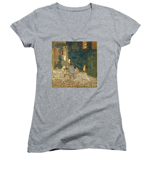 Repast In A Garden Women's V-Neck