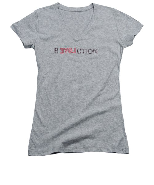 Revolution Women's V-Neck T-Shirt (Junior Cut) by Bill Cannon