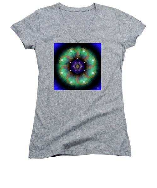Sacred Geometry 638 Women's V-Neck T-Shirt