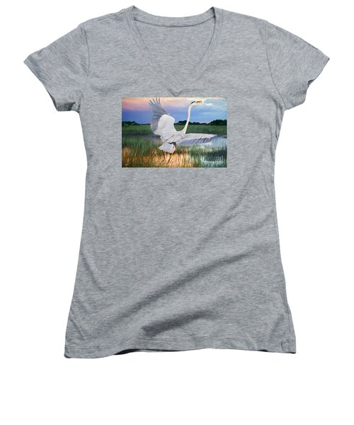 Sail Into Sunset Women's V-Neck (Athletic Fit)