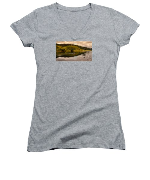 Sailing In Scotland Women's V-Neck (Athletic Fit)