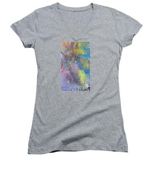 Sand Women's V-Neck T-Shirt (Junior Cut) by Becky Chappell