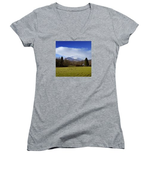 Women's V-Neck T-Shirt (Junior Cut) featuring the photograph Scottish Scenery by Jeremy Lavender Photography