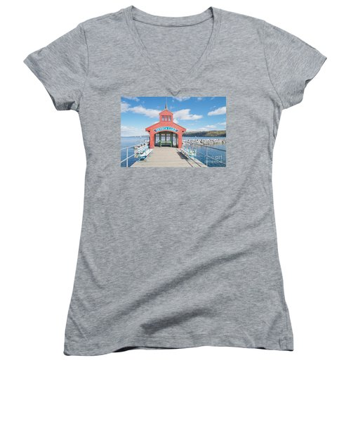 Seneca Lake Women's V-Neck T-Shirt