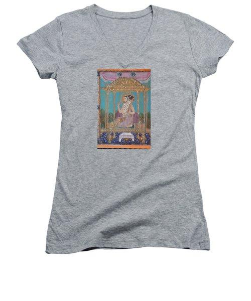Shah Jahan Women's V-Neck T-Shirt (Junior Cut) by Vikram Singh