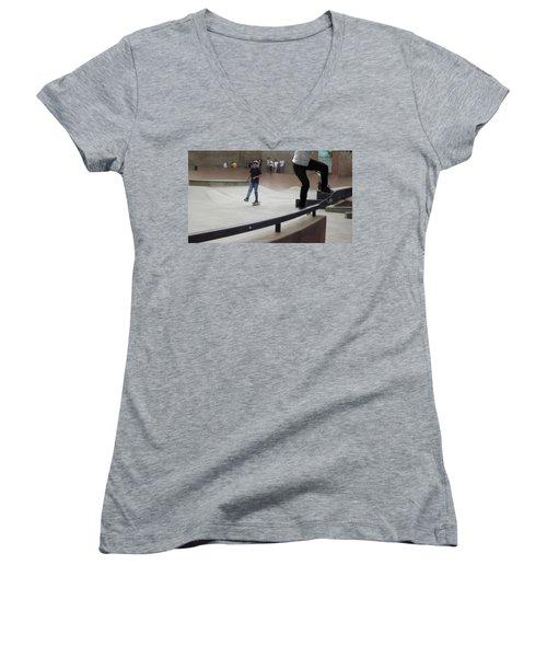 Skateboarding Women's V-Neck