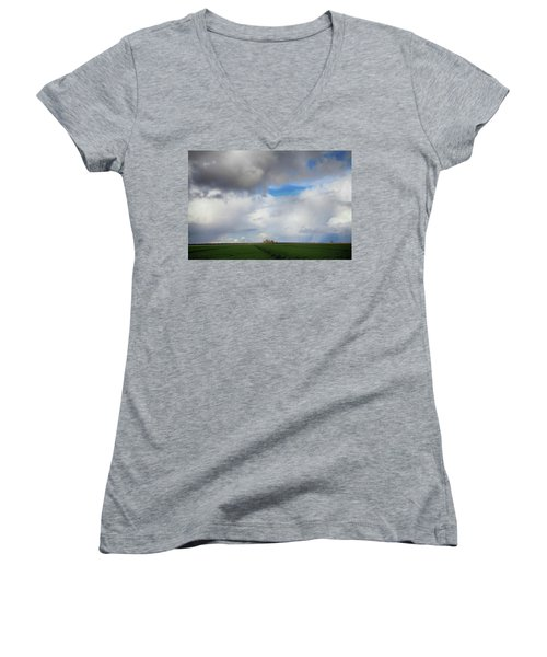 Women's V-Neck T-Shirt (Junior Cut) featuring the photograph Skyward by Laurie Search
