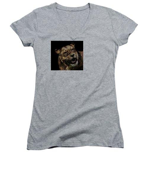 Smile Women's V-Neck T-Shirt (Junior Cut) by Martin Newman