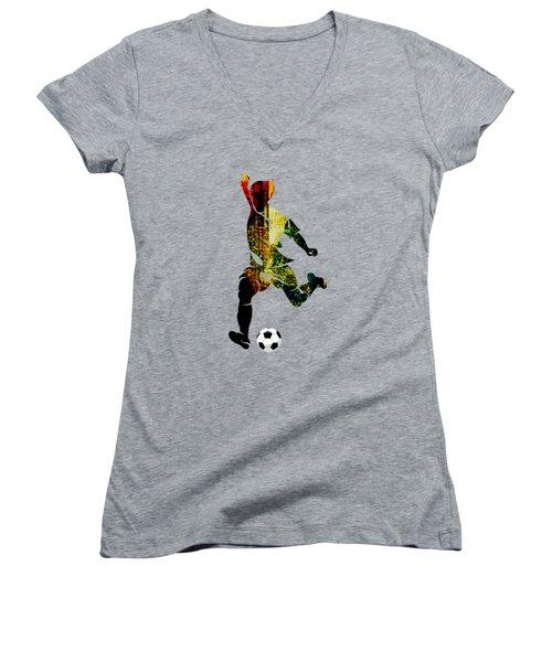 Soccer Collection Women's V-Neck T-Shirt