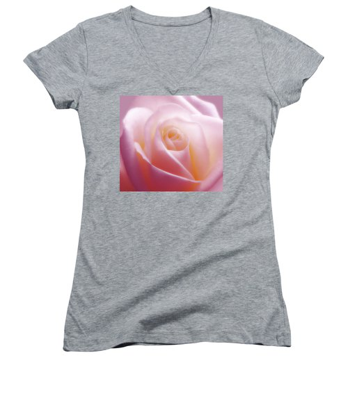 Soft Nostalgic Rose Women's V-Neck (Athletic Fit)