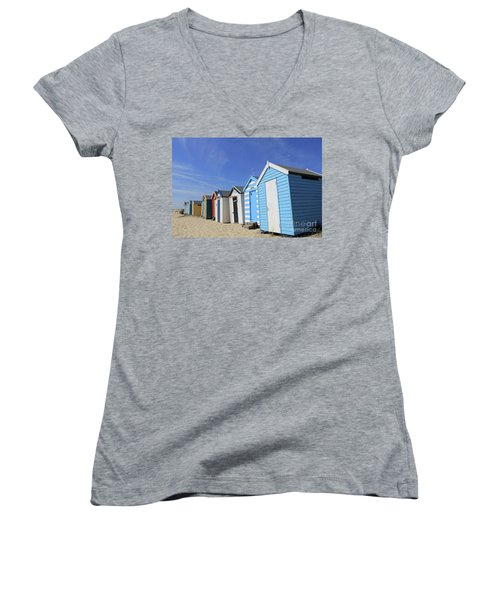 Southwold Beach Huts Women's V-Neck (Athletic Fit)