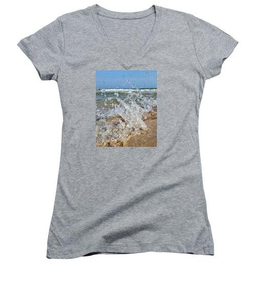 Splash Women's V-Neck T-Shirt (Junior Cut) by Nikki McInnes