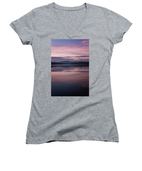 Spofford Lake Sunrise Women's V-Neck