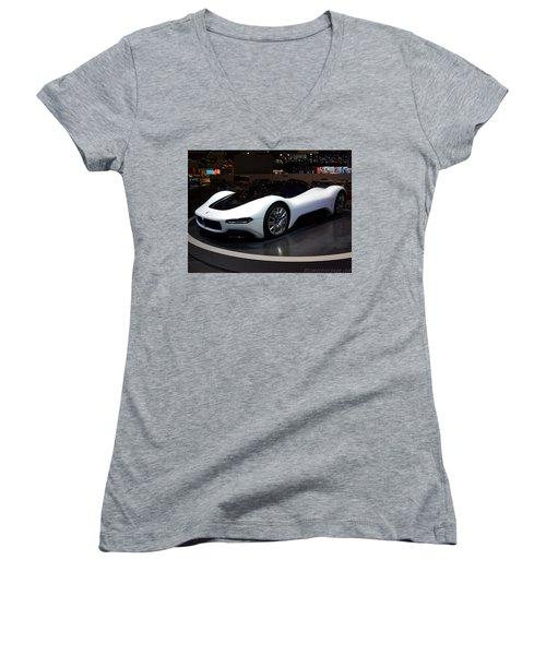 Sports Car Women's V-Neck