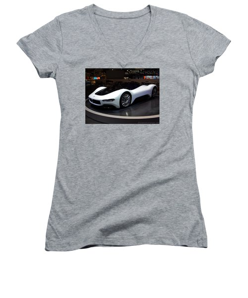 Sports Car Women's V-Neck (Athletic Fit)