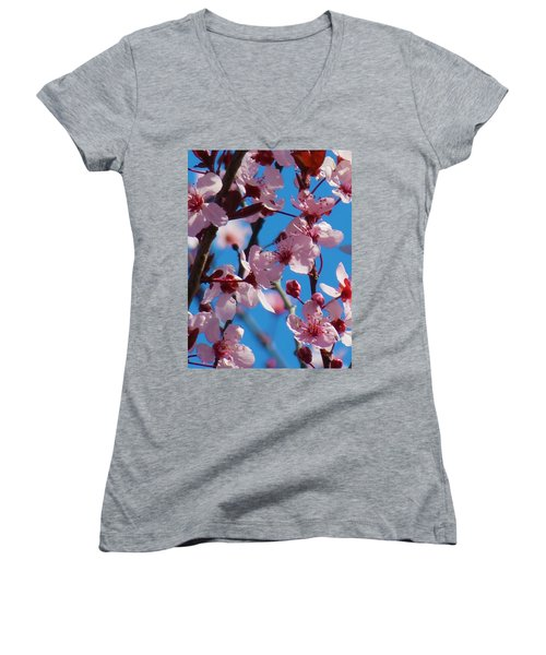Spring Is Here Women's V-Neck (Athletic Fit)