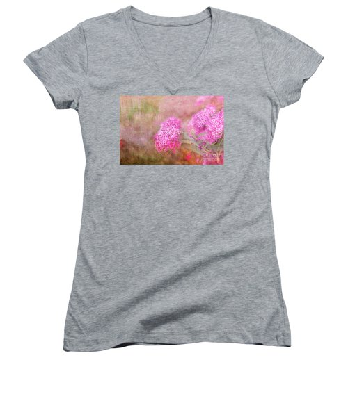 Women's V-Neck T-Shirt (Junior Cut) featuring the photograph Springtime by Betty LaRue
