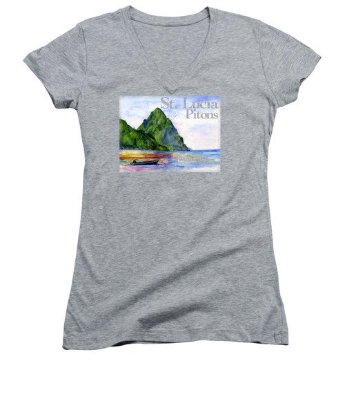 St. Lucia Women's V-Neck (Athletic Fit)