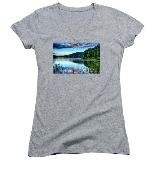 Summer Morning On The Lake Women's V-Neck T-Shirt