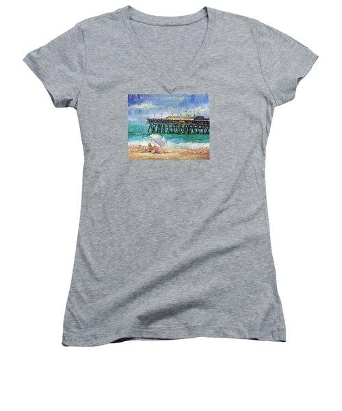 Summer Sun Women's V-Neck T-Shirt